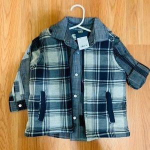 Gymboree plaid button down shirt and matching vest